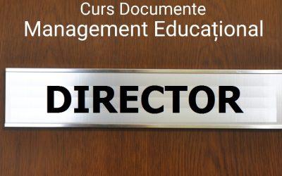 Curs online Documente de Management Educațional